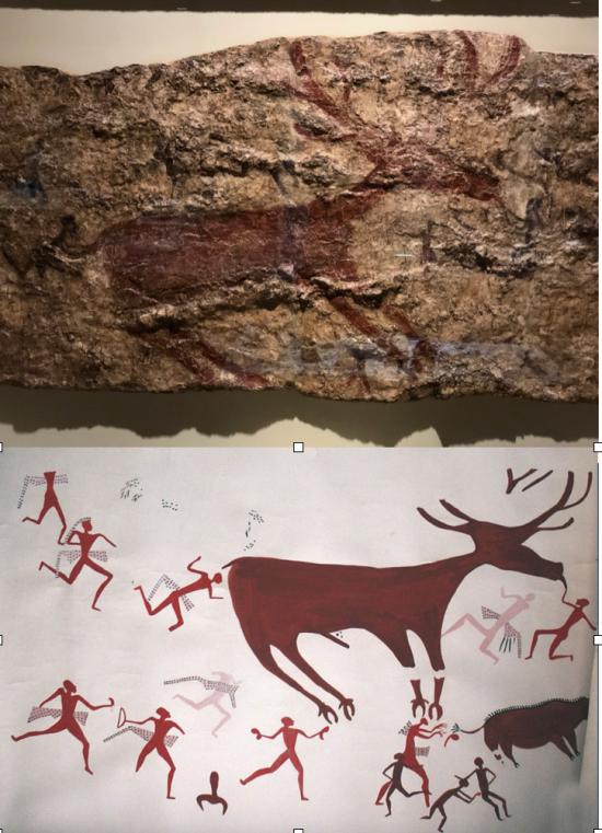 Geyik Etrafında İnsan Figürleri (Çatalhöyük M.Ö.6.Bin) -Human Figures Around a Deer (Catalhoyuk, 6000 B.C.)
