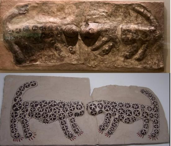 Leopar Kabartmaları Çatalhöyük M.Ö. 6. Bin - Leopard Reliefs Catalhoyuk 6000 B.C