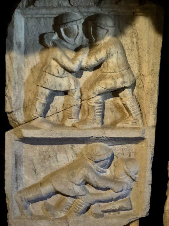 Gladyatör Dövüşleri Kabartması (Hieropolis M.S.III.yy) - Relief of Gladiator Fights( Hieropolis A.D.IIIrd century)