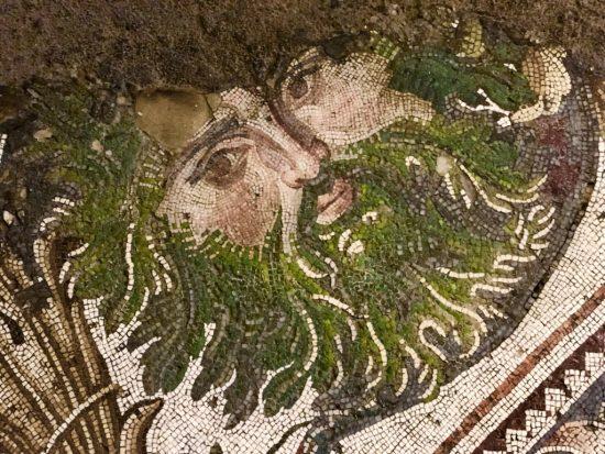 Akantus Sakallı Mask (Bizans M.S. 450-550)- Mosaic Head (Byzantine A.D. 450-550