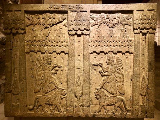 Urartu taş işçiliği örneği M.Ö 7.yy- Carved basalt from Urartu civilization 7C BC